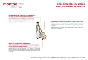 Infografía contrato temporal despido objetivo